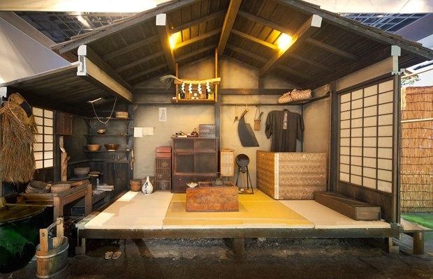 江戸の長屋の室内