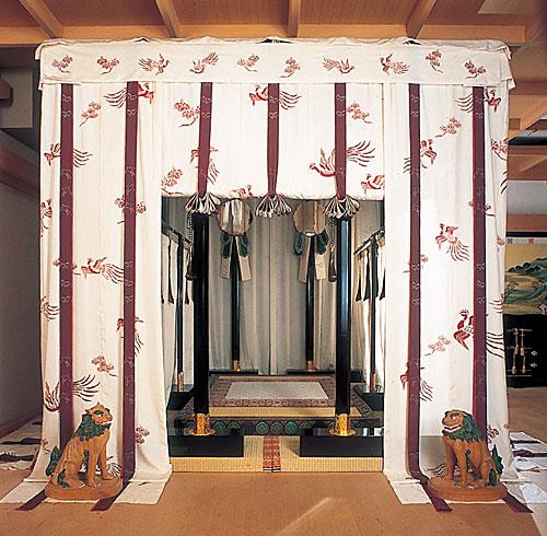 御張台の実物復元(京都風俗博物館)