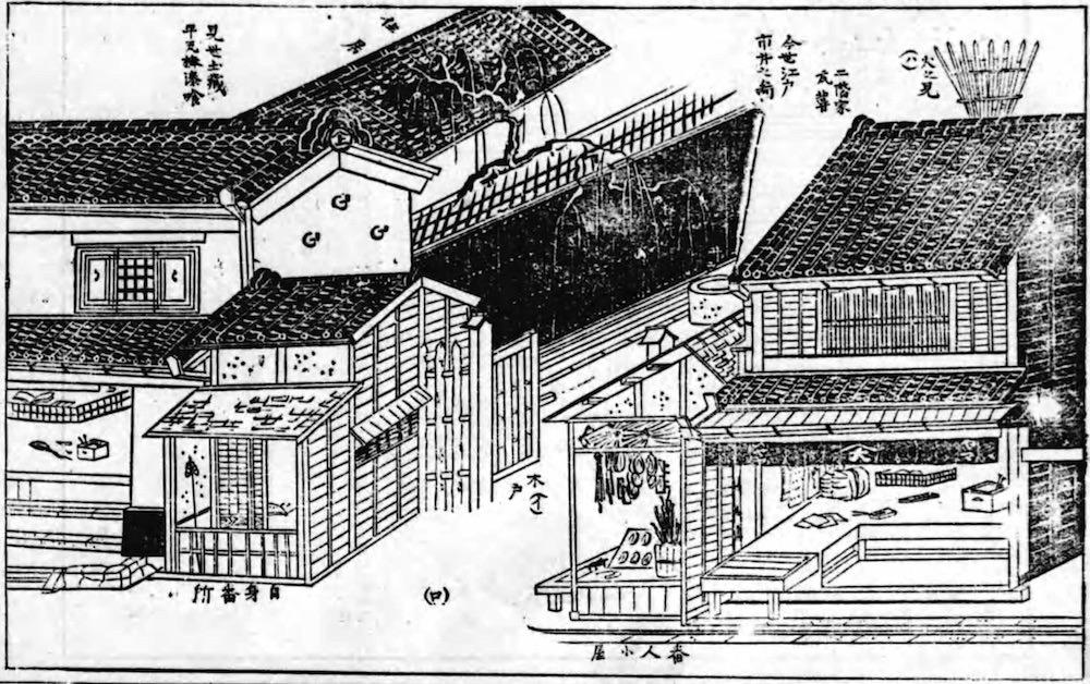 長屋の表店(『類聚近世風俗志』より)の拡大画像