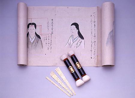 江戸時代の眉のメイク法とメイク道具の使用解説書(『化粧眉作口伝(けしょうまゆづくりくでん)』1708年)