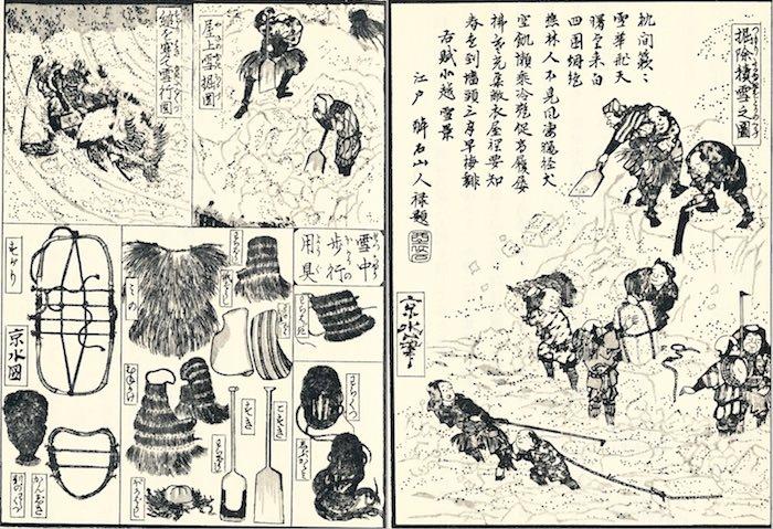 『北越雪譜』(鈴木牧之 作・画)