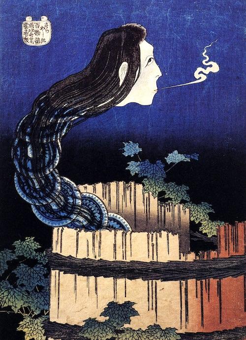 『百物語』「さらやしき」 (葛飾北斎 画)