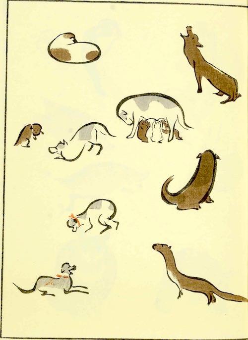 『鳥獣略画式』3-1(1797年、北尾政美 画)