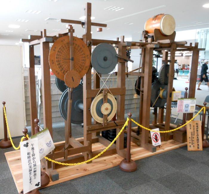 からくり伊賀七こと飯塚伊賀七が発明した巨大な和時計