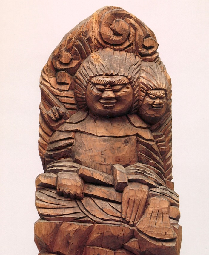 円空仏「両面宿儺坐像」(岐阜県千光寺 所蔵)の拡大画像