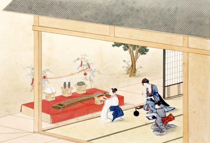 七夕祭(『年中行事絵』より/川原慶賀 画)