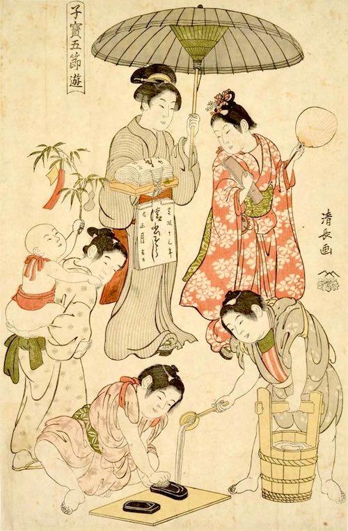 『子宝五節遊』「七夕」(鳥居清長 画