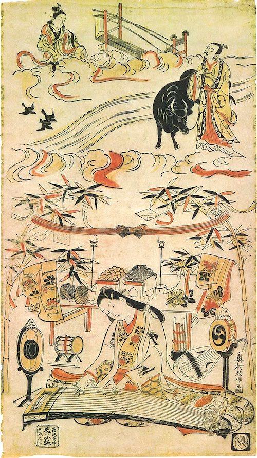 『七夕祭』(奥村政信 画)