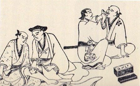 江戸時代の虫歯診察(右)