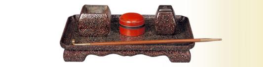 青貝松葉螺鈿タバコ盆