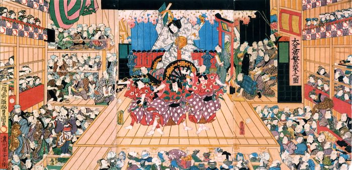 『大芝居繁栄之図』(三代歌川豊国 画)