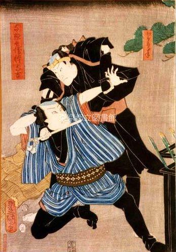 鼠小僧(三代歌川豊国 画)