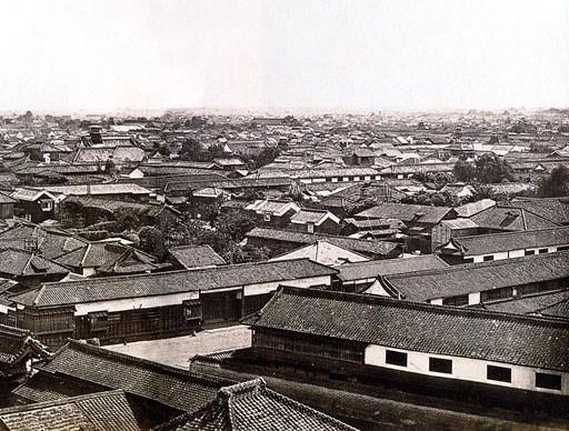 幕末に撮影された江戸の町