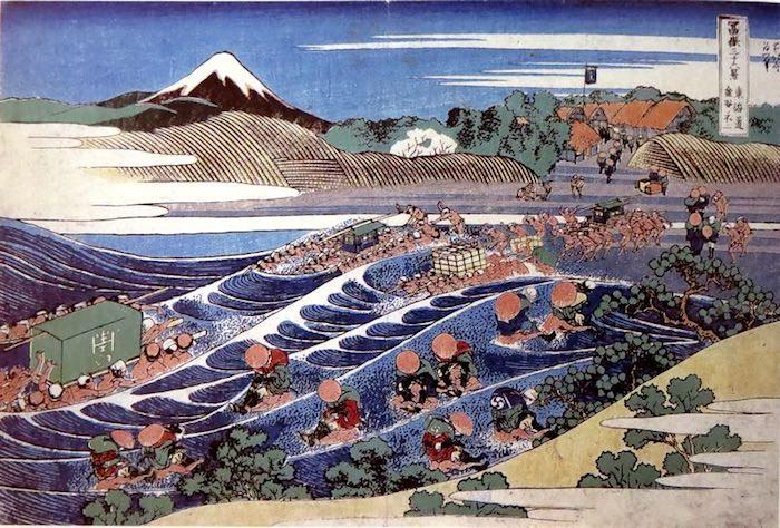 『東海道金谷ノ不二』(葛飾北斎 画)