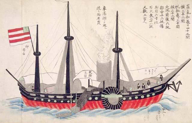 『黒船来航図』部分