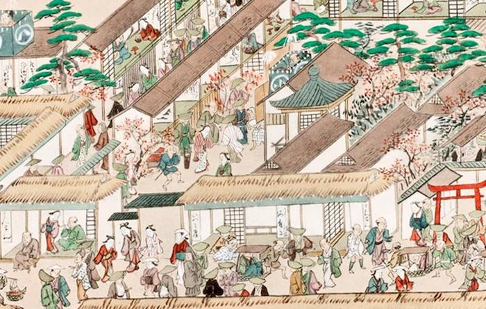 徳川宗春時代の華やかな名古屋を描いた『享元絵巻』