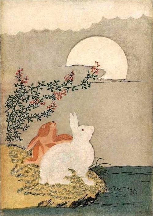 浮世絵師・鈴木春信の『月のウサギ』