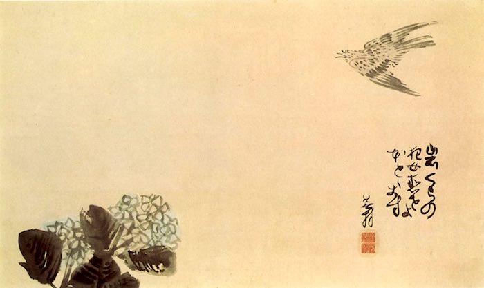 俳句と絵を融合させた「俳画」(与謝蕪村)