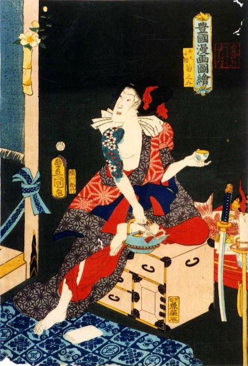 『豊国漫画図絵』「弁天小僧菊之助」(歌川国貞 画)