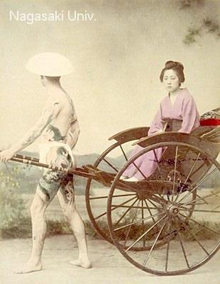 刺青男性のブロマイド3/3(明治時代 撮影)