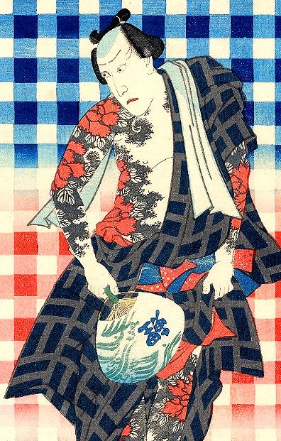 『御あつらへ三色弁慶』部分(三代歌川豊国 画)