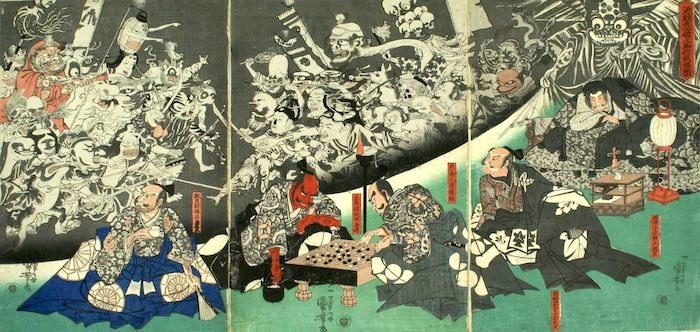 『源頼光公舘土蜘作妖怪図』(歌川国芳 画)