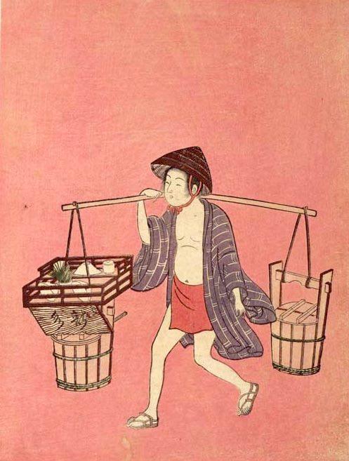 『水売り』鈴木春信 画