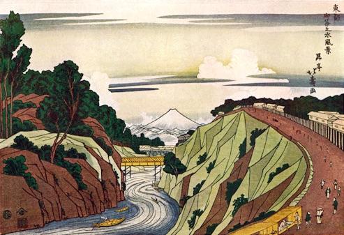『東都御茶之水風景』昇亭北寿 作(江戸時代後期)