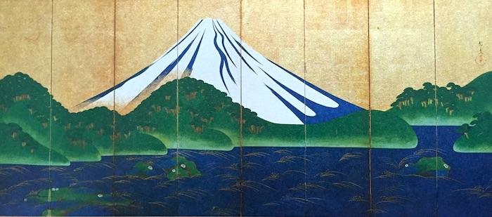 『富士図屏風』鈴木守一 作(幕末)