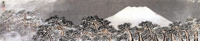 『富嶽列松図』与謝蕪村 作(江戸時代中期)