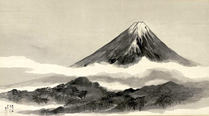 『富士真景図』谷文晁 作(1802年)