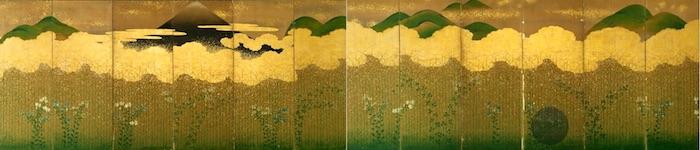 『武蔵野図屏風』(江戸時代前期)