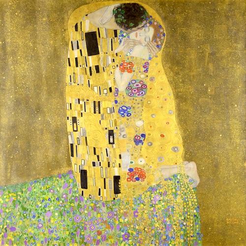 クリムトの代表作『接吻』(1908年)