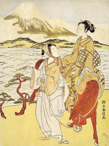 『見立東下り』鈴木春信 画(18世紀後半)