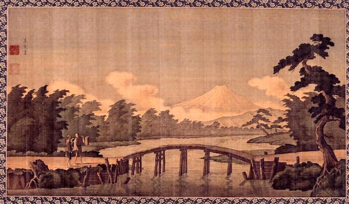 『富岳図』小田野直武 作(江戸時代後期)