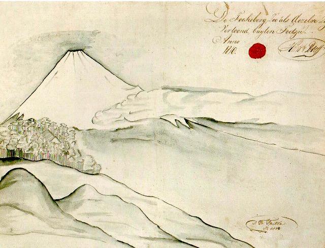 『富嶽図』ヤン・フレデリク・フェイルケ 作(1820年?)