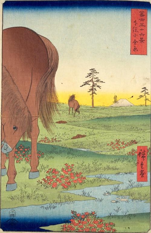 『冨士三十六景』より「下総小金原」(1859年)
