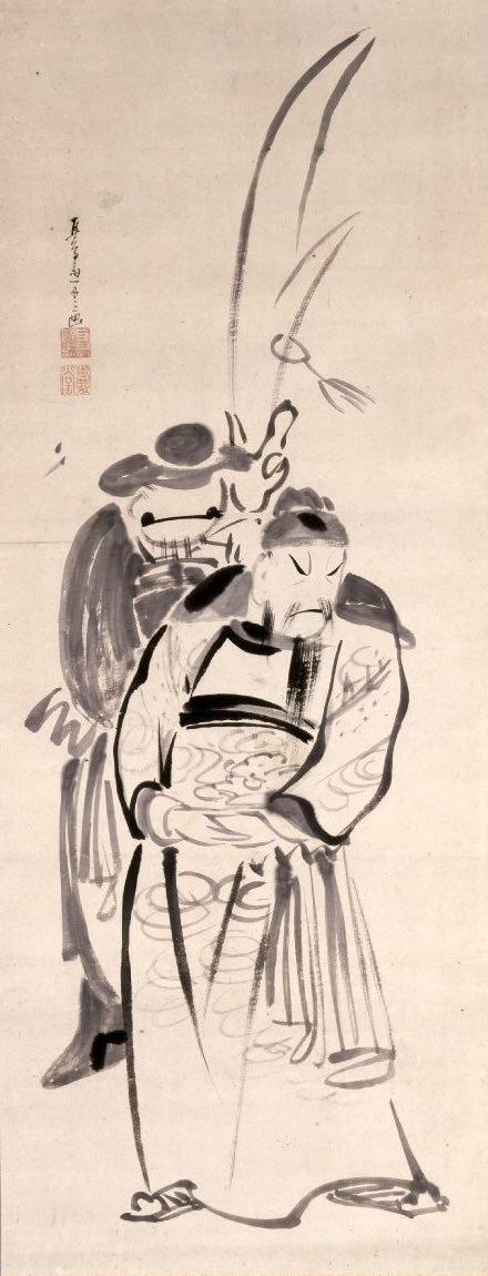『関羽図』(耳鳥斎 画)