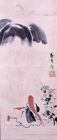 中国の伝説に登場するお酒好きの精霊(耳鳥斎 画)