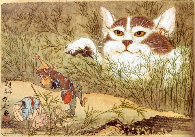河鍋暁斎の描いた「化け猫」