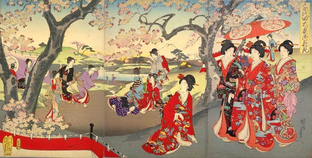 春日局が礎を築いた江戸城大奥には選りすぐりの美女がたくさん(『千代田之大奥』揚州周延 画)の拡大画像