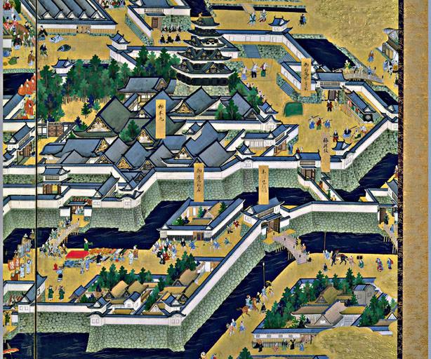江戸城本丸(『江戸図屏風』より)の拡大画像