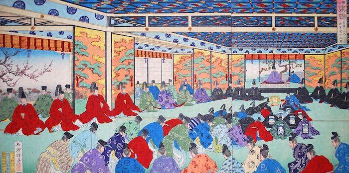 徳川吉宗の八代将軍就任の様子(『旧徳川八代将軍宣下之図』)