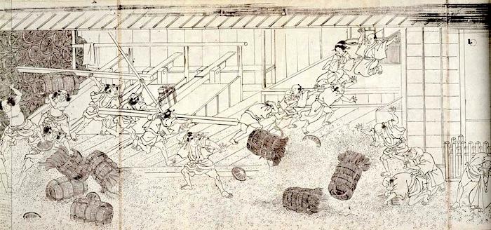 江戸時代の「打ちこわし」(『江戸市中騒動図』)