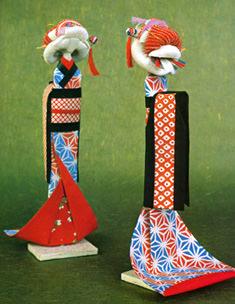 姉様人形(江戸時代に女の子の遊び用人形)