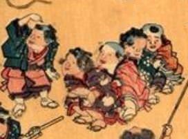 江戸時代の遊び「芋虫ごろごろ」(『風流をさな遊び』 歌川広重 画)