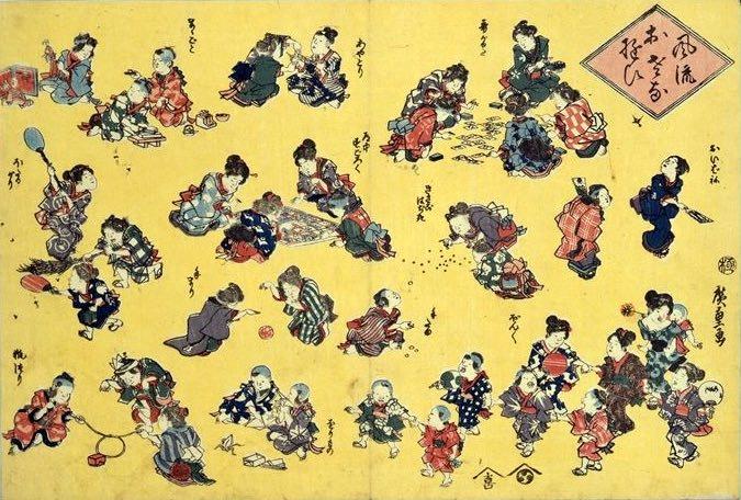 江戸時代の女の子の遊び