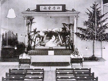 大正時代の神戸教会でのクリスマス