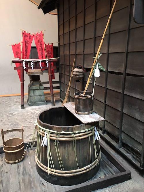 江戸時代の長屋の井戸(深川江戸資料館 再現)