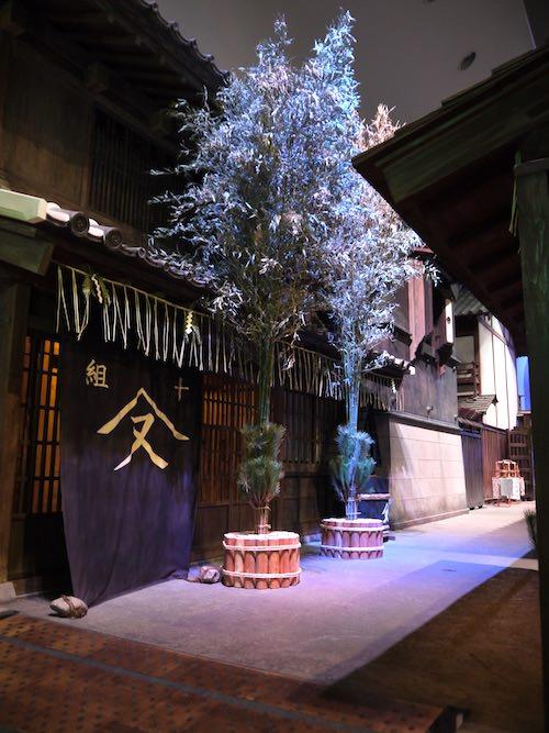 江戸時代の門松(深川江戸資料館)